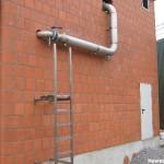Zugangsleiter und Rohrleitung aus VA-Stahl für Biogasanlagen